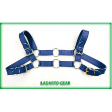 Chap Leather Bulldog Chest Harness 4-buckle 6-Ring