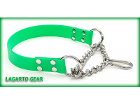 GatorStrap™ Martingale Collar 1 inch wide with chain and Stainless Steel Safety Spring Snap