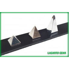 Pyramid Spikes - 0.5 (1/2) inch - screw back REGULAR height