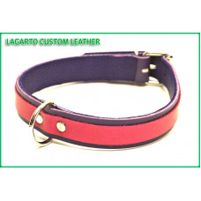1 inch plus 5/8 inch Two Strap Latigo Collar with 1