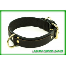 1 1/4 inch plus 3/4 inch Two Strap Latigo Collar with pet D