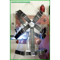 X-Shape Chap Leather Torso Harness/Belt 6-buckle