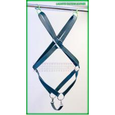 Quad X-Shape Chap Leather Torso Harness with under strap