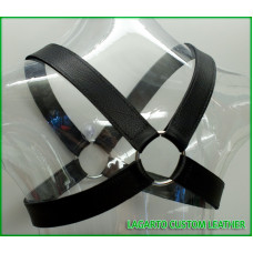 X-Shape Chap Leather Chest Harness
