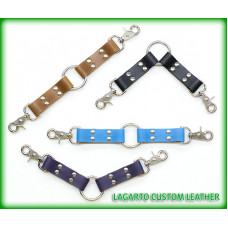 Leather Double Segment Cuffs Connector Strap