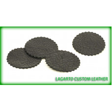 Leather Coasters - made from premium bison belt leather