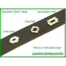 Chain Studs - 0.875 (7/8) inch width rectangular