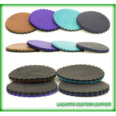Leather Coasters - double layer, you choose the colors