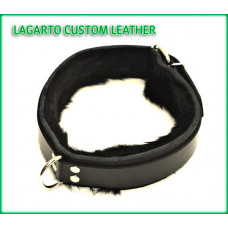 1.5 Inch Double Strap Buffalo Collar with Rabbit Fur Liner
