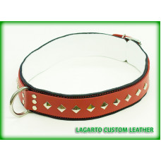 2 Inch Double Strap Fursuit Collar with White Chap Liner