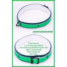 1.5 Inch Double Strap Fursuit Collar with White Chap Liner
