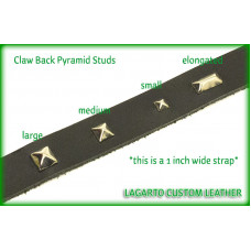 Pyramid Studs - ELONGATED 0.75 (3/4) inch