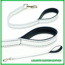 Leash 1 inch wide Soft Chap Leather, choose your length