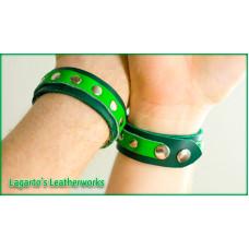 Wrist Cuffs Pair (1 inch wide + 5/8 inch accent strap)